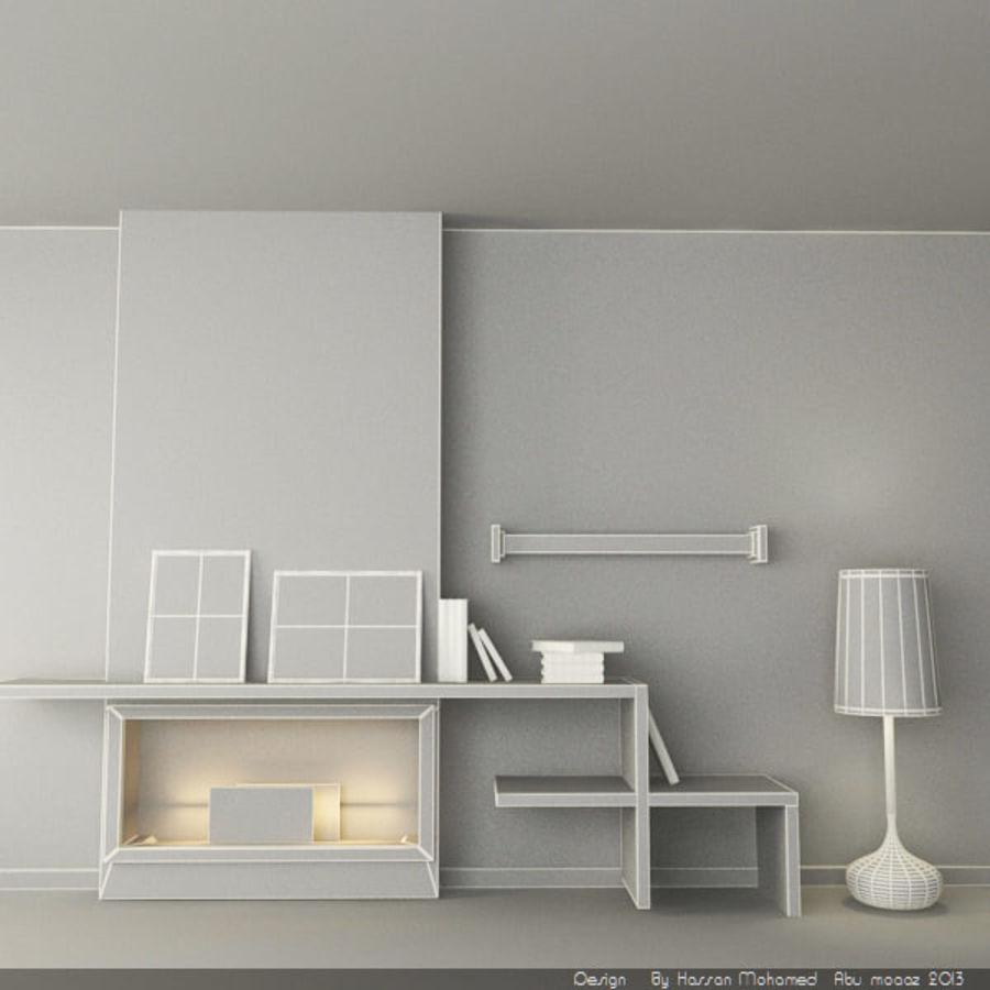 Élément divers de meubles royalty-free 3d model - Preview no. 5