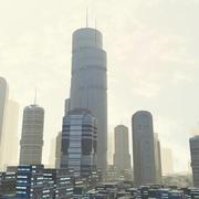 Ciudad de ciencia ficción modelo 3d