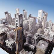 Gedetailleerde grootstedelijke stad 2013 3d model