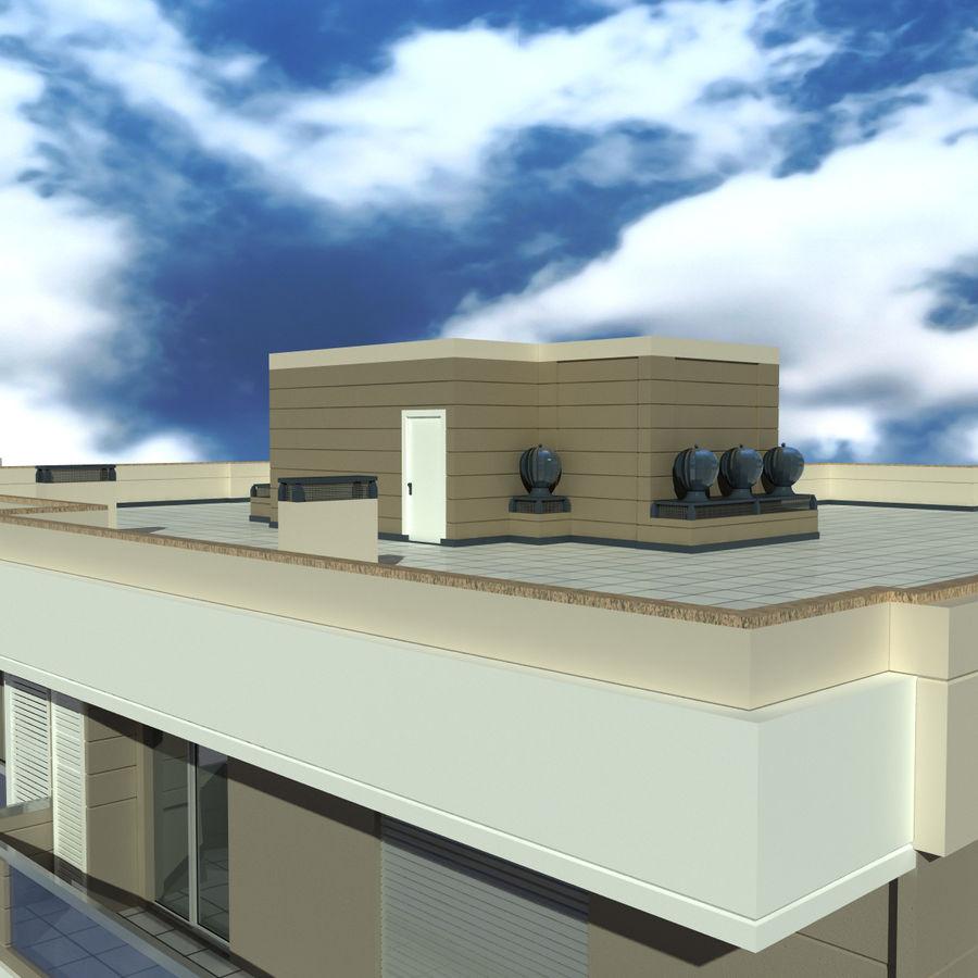 Edificio de la casa de la ciudad 4 royalty-free modelo 3d - Preview no. 15