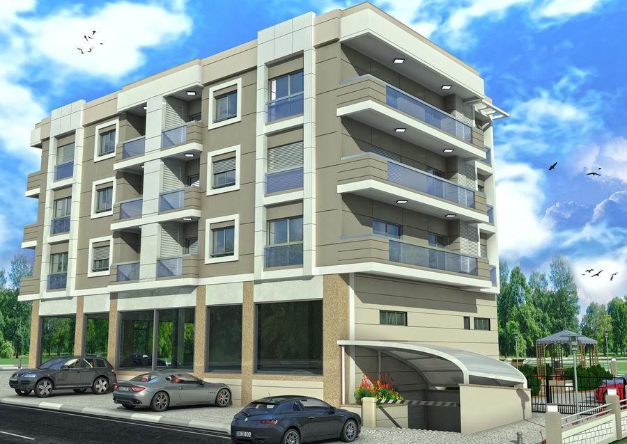 Edificio de la casa de la ciudad 4 royalty-free modelo 3d - Preview no. 9