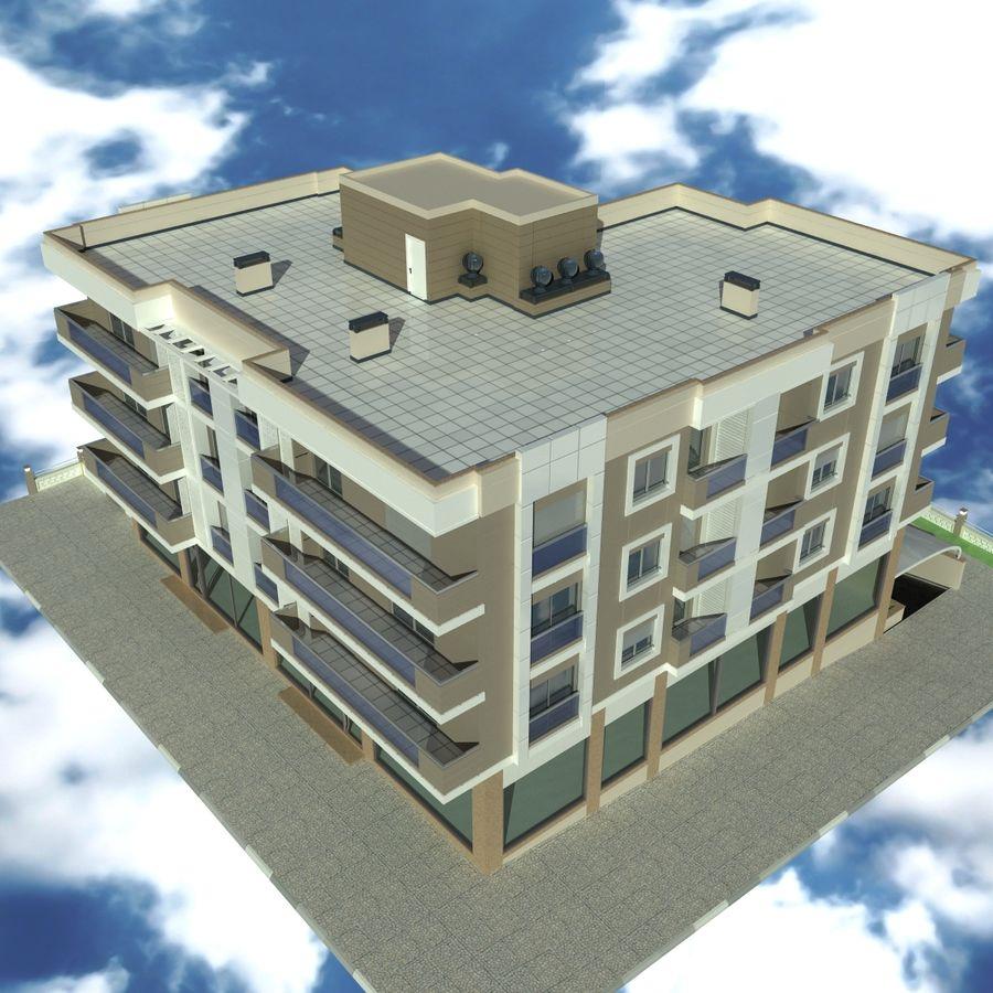 Edificio de la casa de la ciudad 4 royalty-free modelo 3d - Preview no. 16