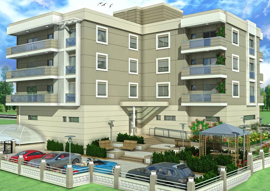 Edificio de la casa de la ciudad 4 royalty-free modelo 3d - Preview no. 7