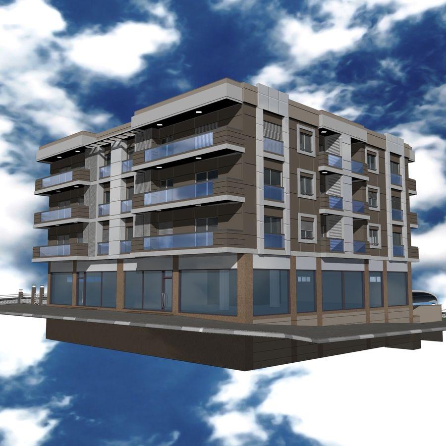 Edificio de la casa de la ciudad 4 royalty-free modelo 3d - Preview no. 24