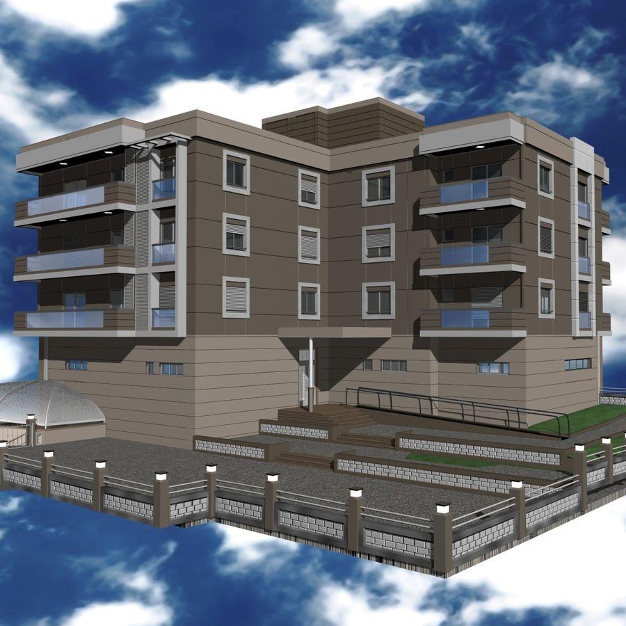 Edificio de la casa de la ciudad 4 royalty-free modelo 3d - Preview no. 23