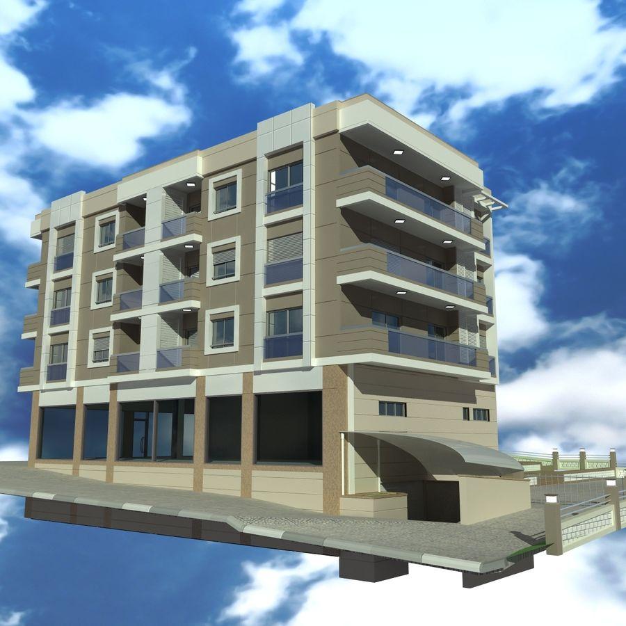 Edificio de la casa de la ciudad 4 royalty-free modelo 3d - Preview no. 8