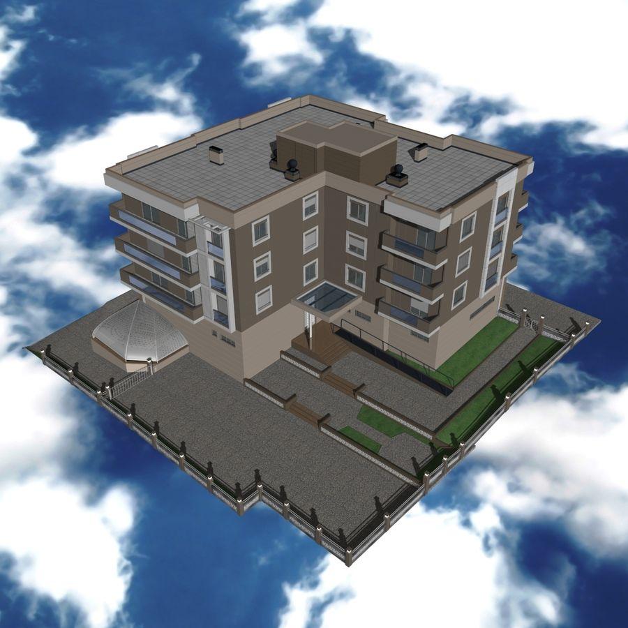 Edificio de la casa de la ciudad 4 royalty-free modelo 3d - Preview no. 21