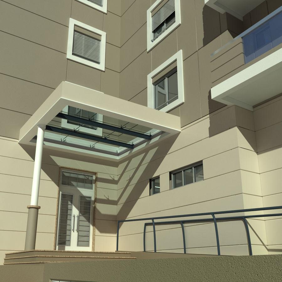 Edificio de la casa de la ciudad 4 royalty-free modelo 3d - Preview no. 13
