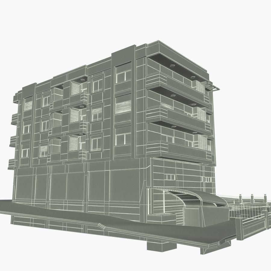 Edificio de la casa de la ciudad 4 royalty-free modelo 3d - Preview no. 18