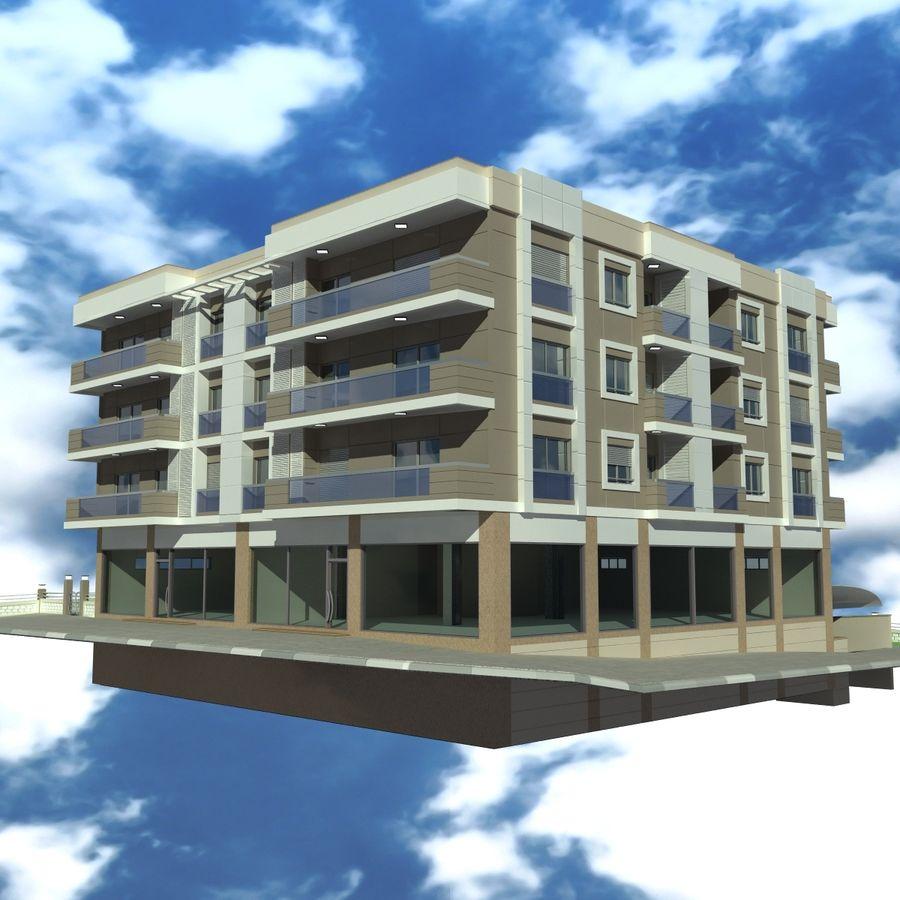 Edificio de la casa de la ciudad 4 royalty-free modelo 3d - Preview no. 2