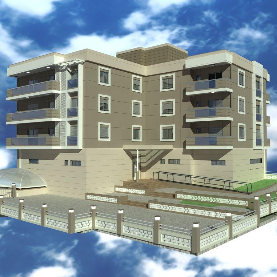 Edificio de la casa de la ciudad 4 royalty-free modelo 3d - Preview no. 6