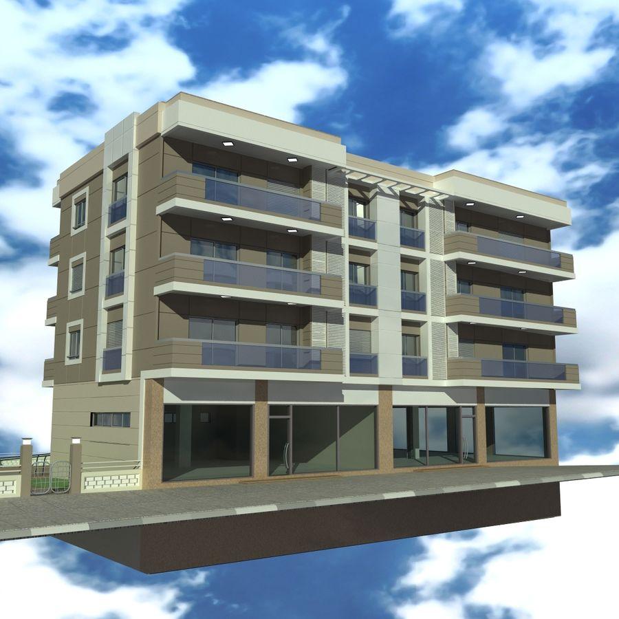 Edificio de la casa de la ciudad 4 royalty-free modelo 3d - Preview no. 10