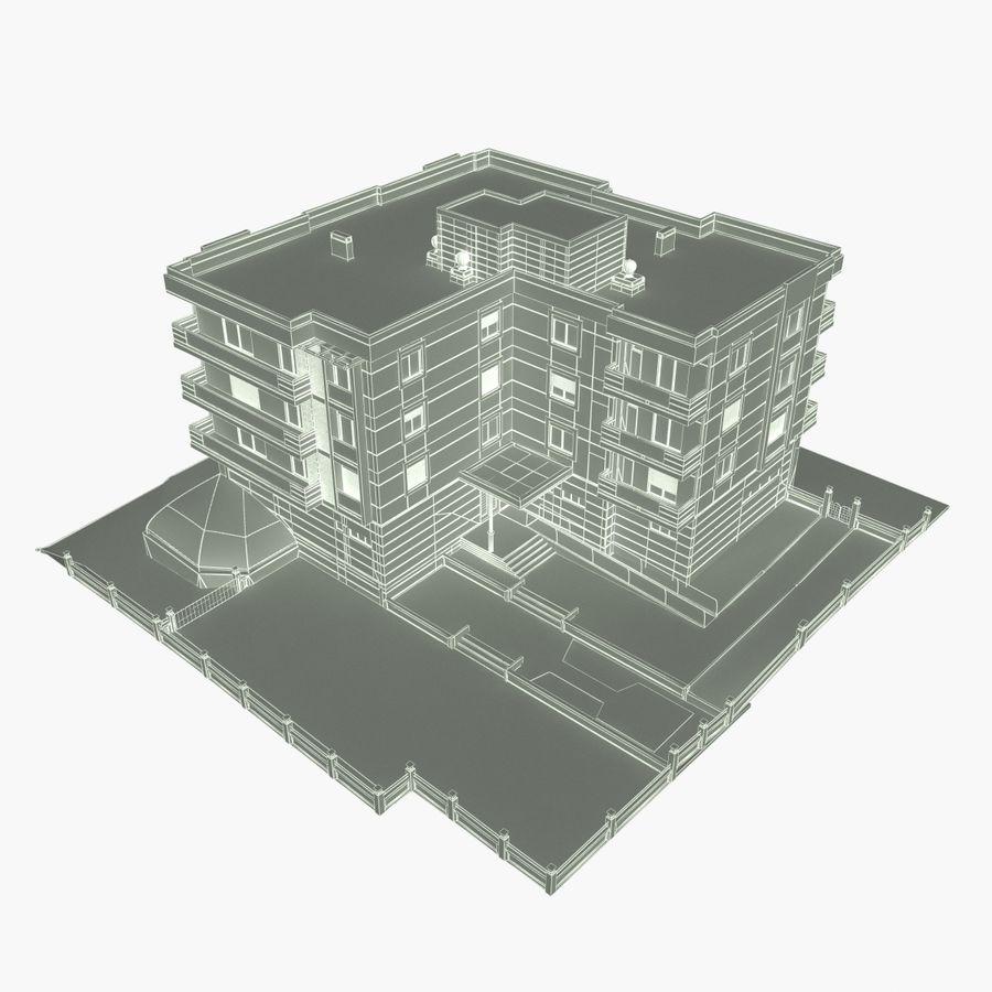Edificio de la casa de la ciudad 4 royalty-free modelo 3d - Preview no. 19