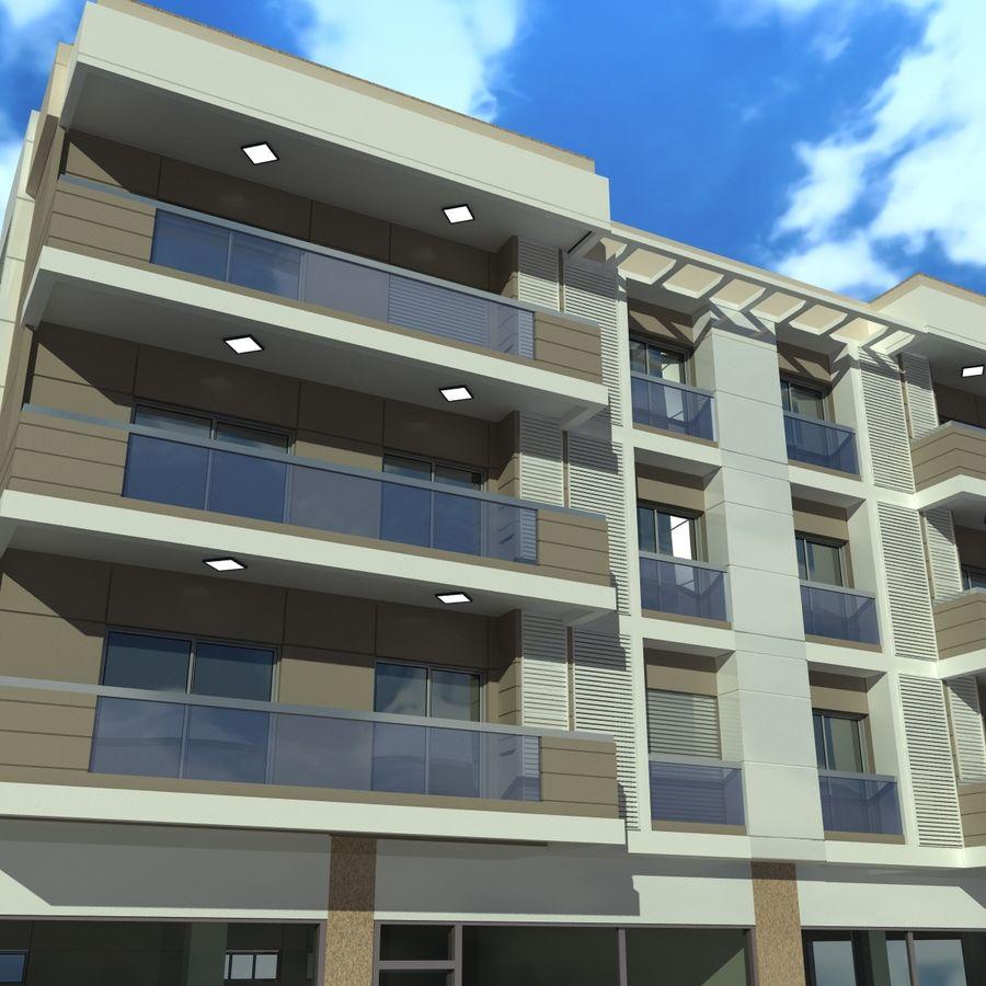 Edificio de la casa de la ciudad 4 royalty-free modelo 3d - Preview no. 12