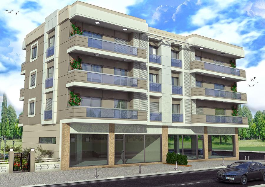 Edificio de la casa de la ciudad 4 royalty-free modelo 3d - Preview no. 11