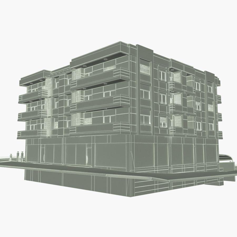 Edificio de la casa de la ciudad 4 royalty-free modelo 3d - Preview no. 17