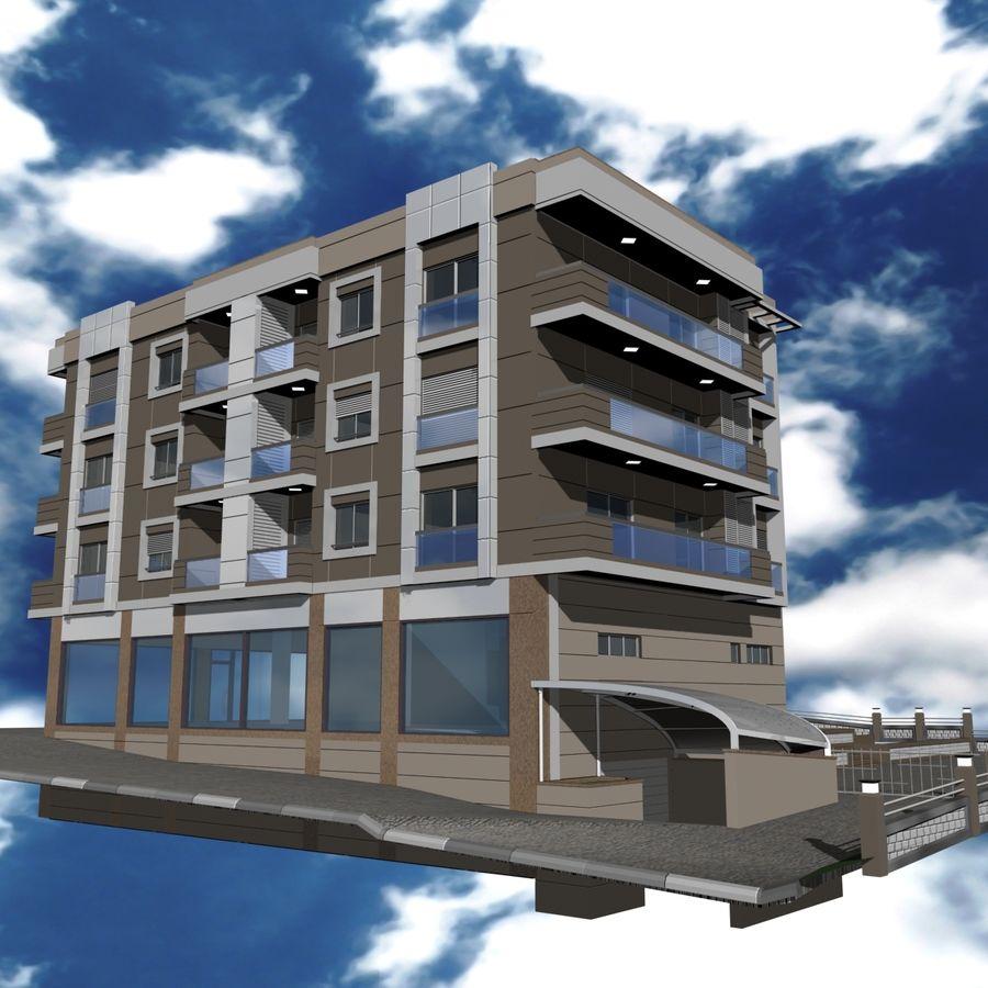 Edificio de la casa de la ciudad 4 royalty-free modelo 3d - Preview no. 22
