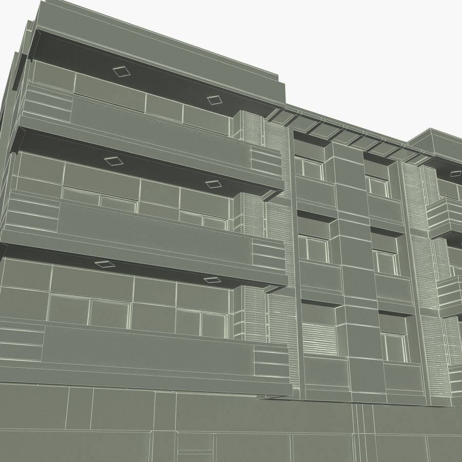 Edificio de la casa de la ciudad 4 royalty-free modelo 3d - Preview no. 20
