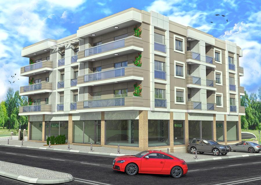 Edificio de la casa de la ciudad 4 royalty-free modelo 3d - Preview no. 5