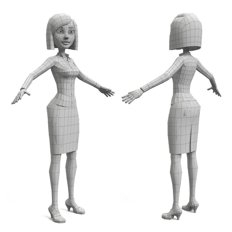 妮娜-女企业家 royalty-free 3d model - Preview no. 10