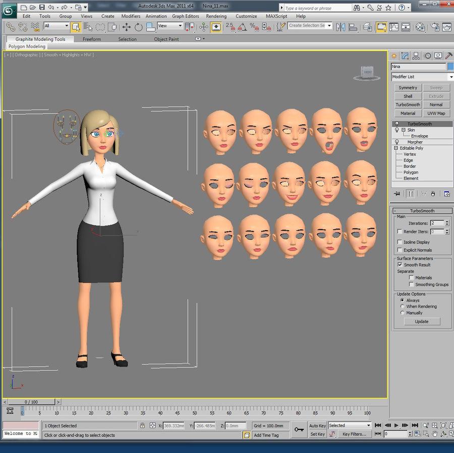 妮娜-女企业家 royalty-free 3d model - Preview no. 12