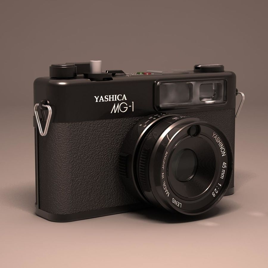 Macchina fotografica analogica royalty-free 3d model - Preview no. 3