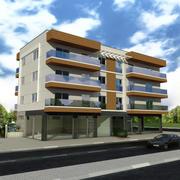 Edificio de la casa de la ciudad 2 modelo 3d