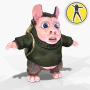 Hamster toon tourist 3d model