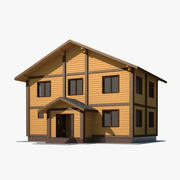 Dom z drewna 3d model
