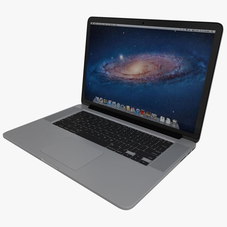 MacBook Pro视网膜显示屏 royalty-free 3d model - Preview no. 1