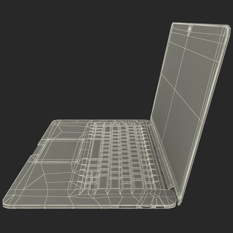 MacBook Pro视网膜显示屏 royalty-free 3d model - Preview no. 19