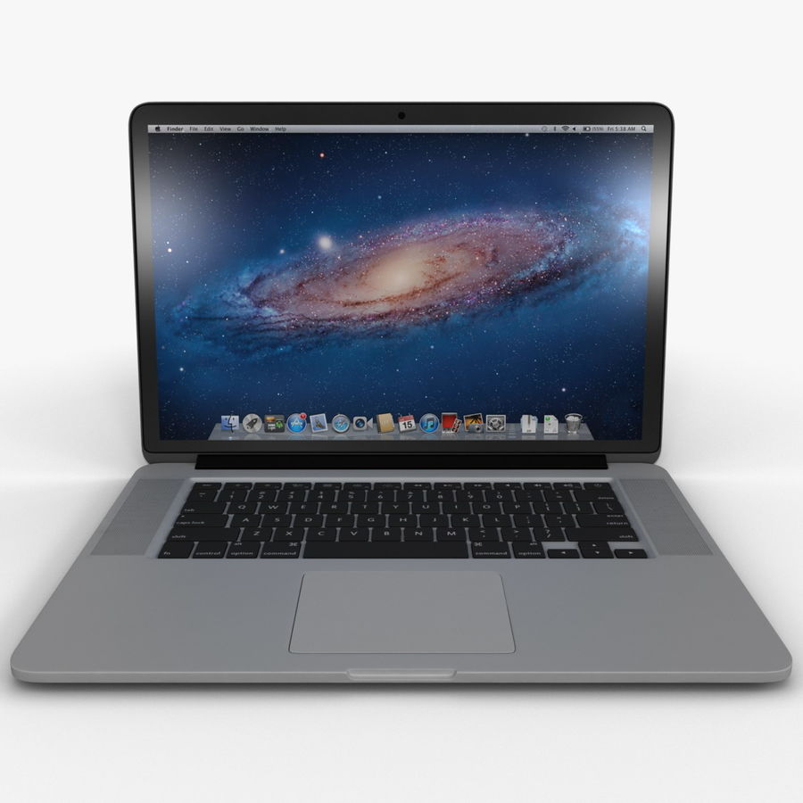 MacBook Pro视网膜显示屏 royalty-free 3d model - Preview no. 3
