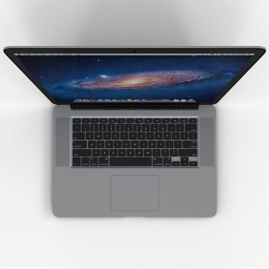 MacBook Pro视网膜显示屏 royalty-free 3d model - Preview no. 10