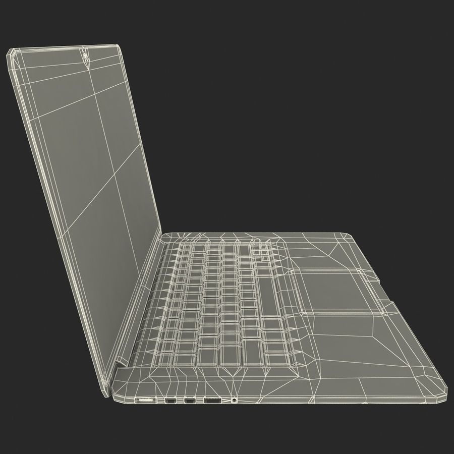 MacBook Pro视网膜显示屏 royalty-free 3d model - Preview no. 16
