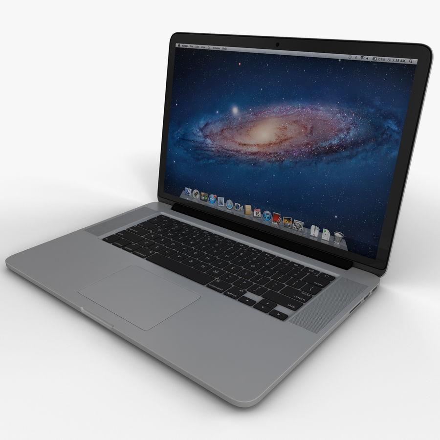 MacBook Pro视网膜显示屏 royalty-free 3d model - Preview no. 2