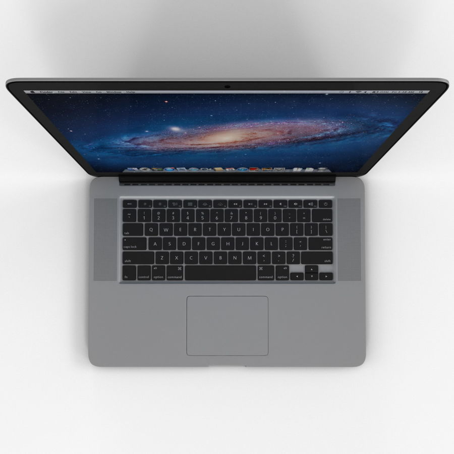 MacBook Pro视网膜显示屏 royalty-free 3d model - Preview no. 10