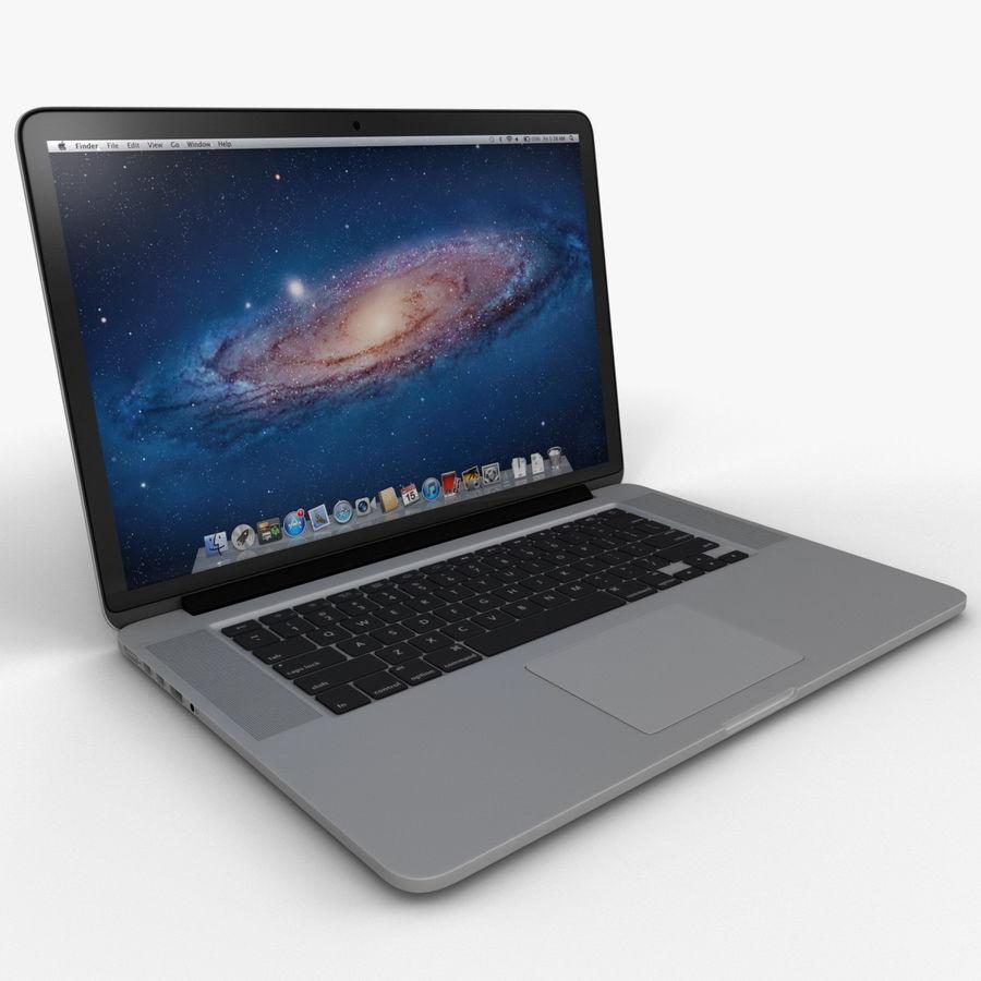 MacBook Pro视网膜显示屏 royalty-free 3d model - Preview no. 4