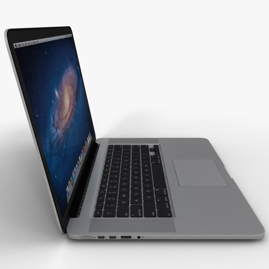 MacBook Pro视网膜显示屏 royalty-free 3d model - Preview no. 5