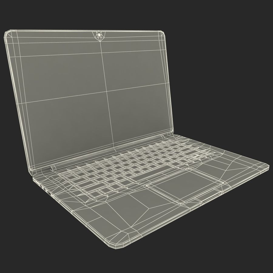 MacBook Pro视网膜显示屏 royalty-free 3d model - Preview no. 15