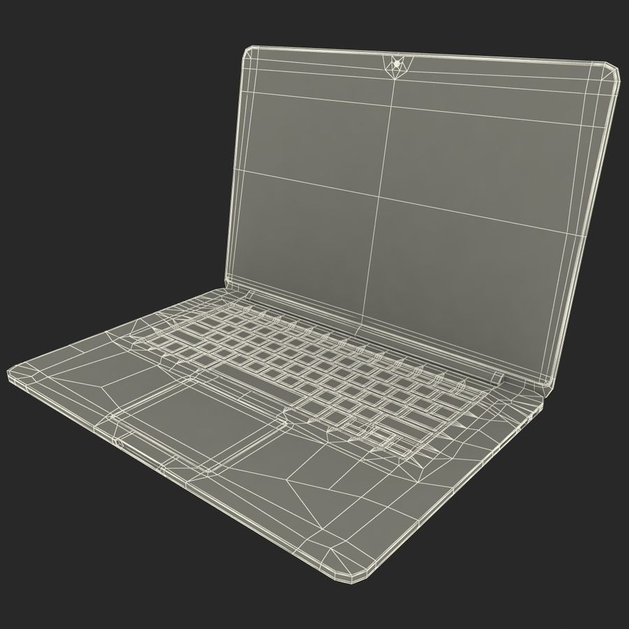 MacBook Pro视网膜显示屏 royalty-free 3d model - Preview no. 20