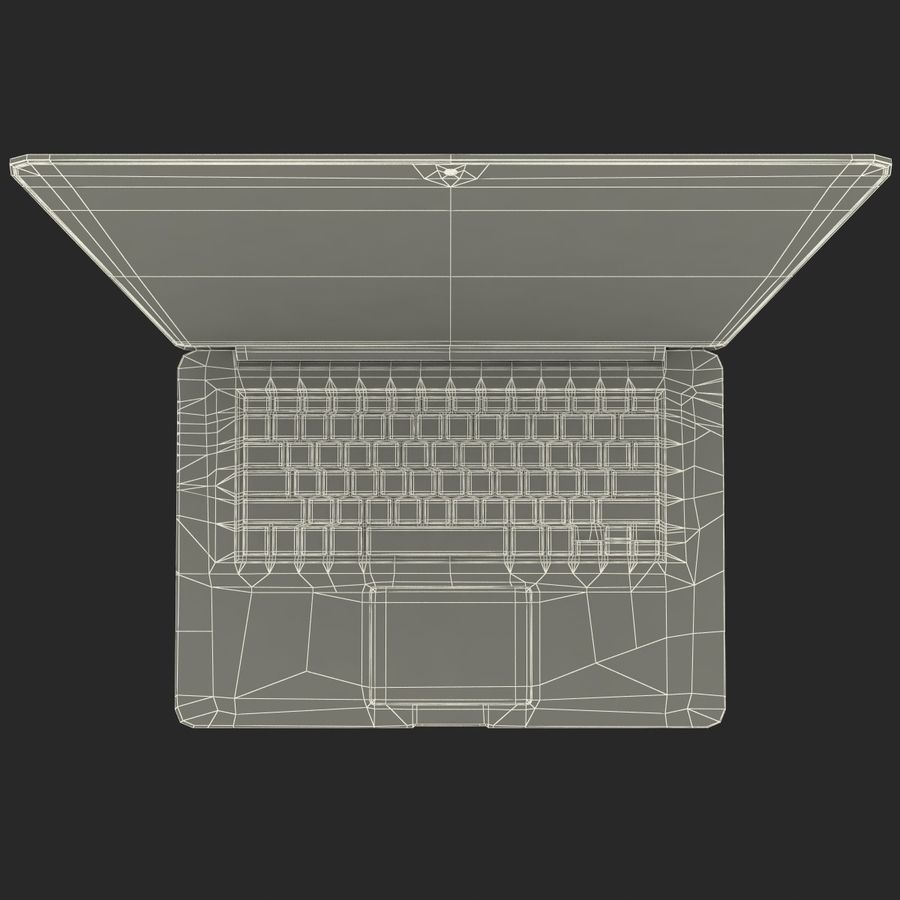 MacBook Pro视网膜显示屏 royalty-free 3d model - Preview no. 21