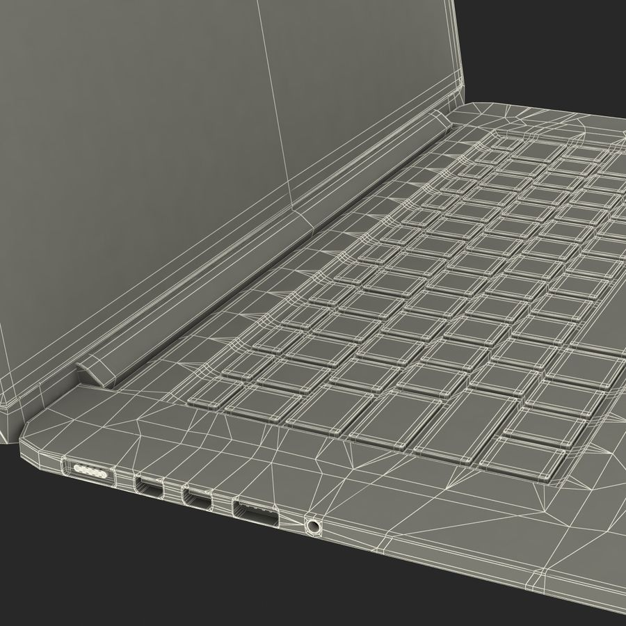 MacBook Pro视网膜显示屏 royalty-free 3d model - Preview no. 23
