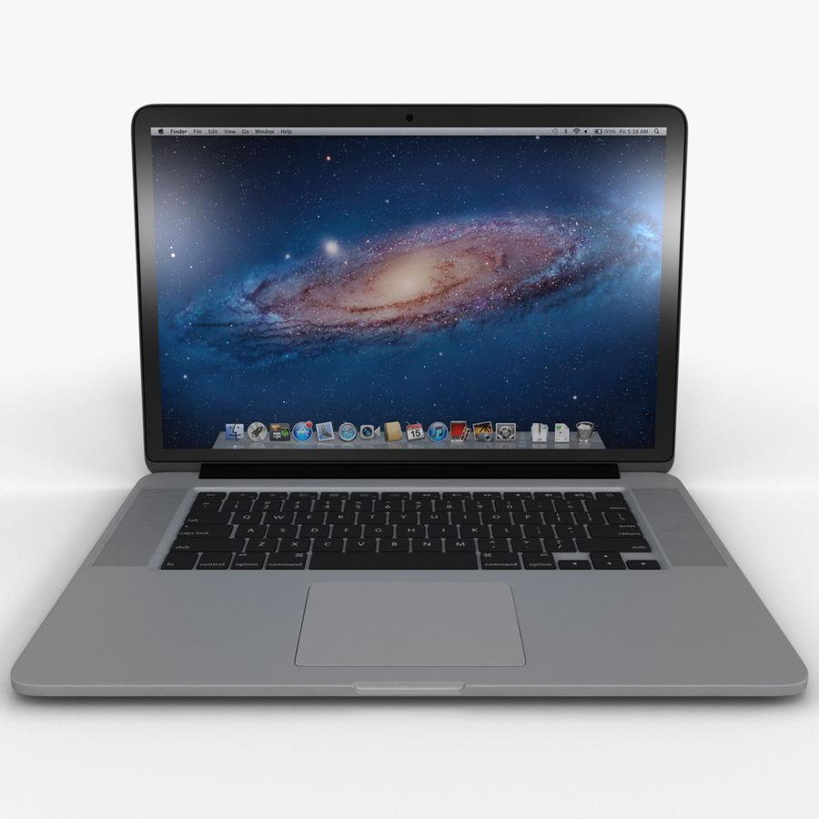 MacBook Pro视网膜显示屏 royalty-free 3d model - Preview no. 3