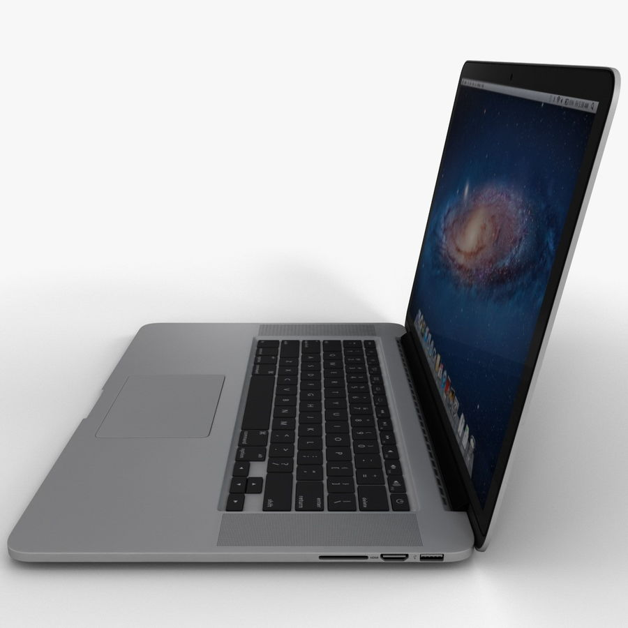 MacBook Pro视网膜显示屏 royalty-free 3d model - Preview no. 8