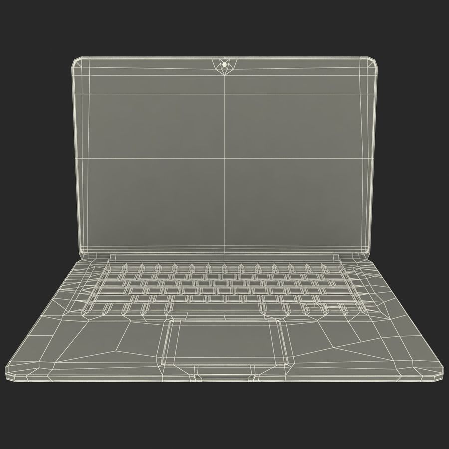 MacBook Pro视网膜显示屏 royalty-free 3d model - Preview no. 14