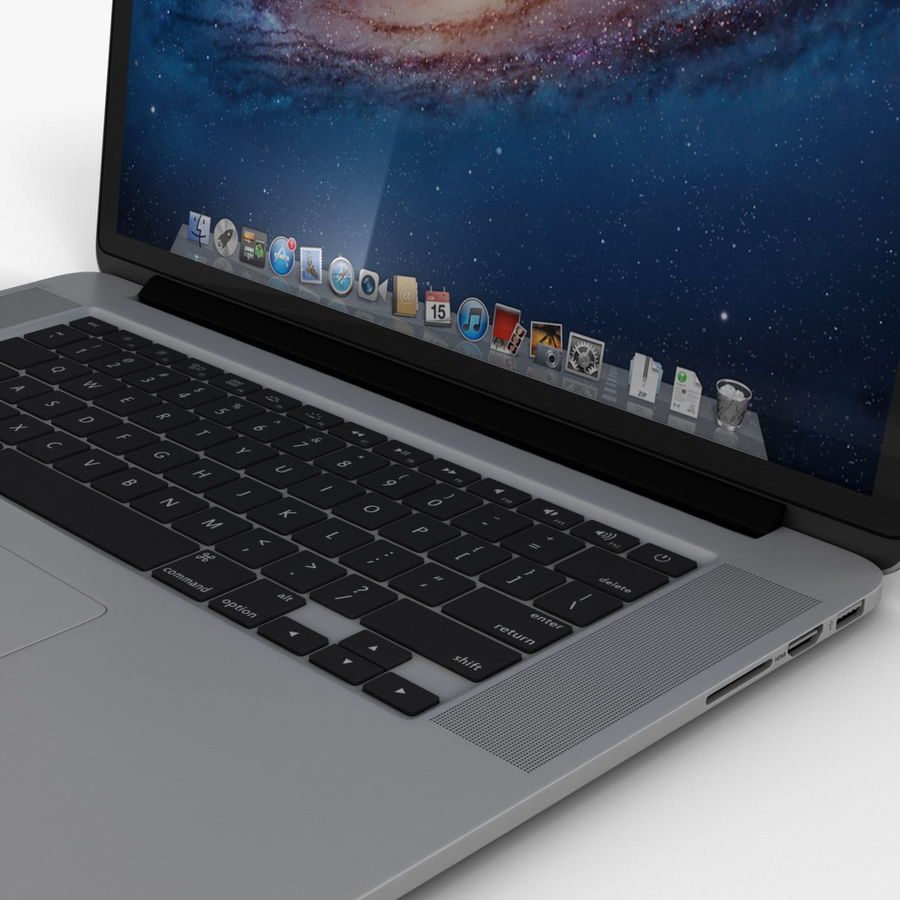 MacBook Pro视网膜显示屏 royalty-free 3d model - Preview no. 11