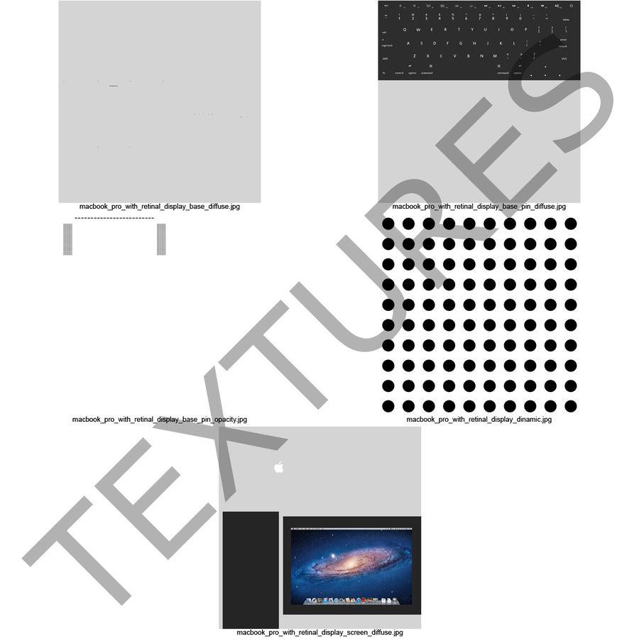 MacBook Pro视网膜显示屏 royalty-free 3d model - Preview no. 25