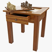 Chess Backgammon Table 3d model