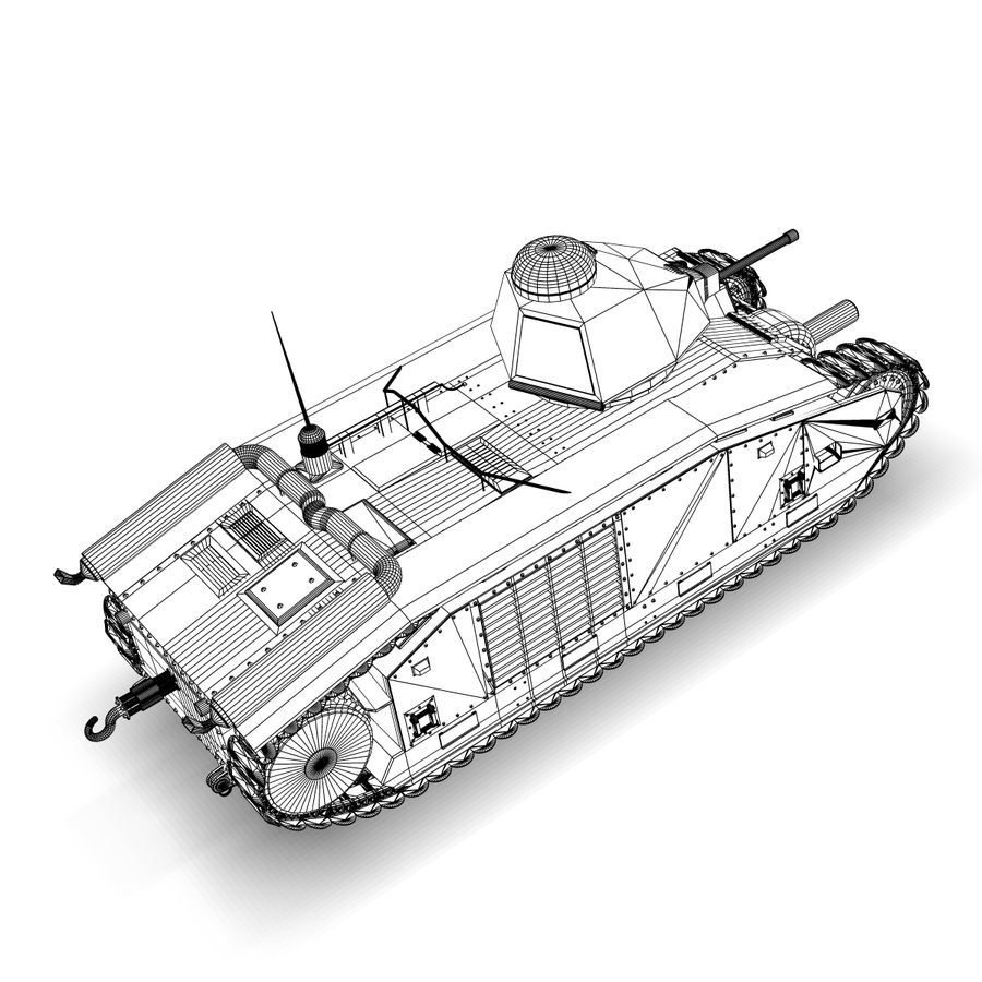 Zeichen B1 royalty-free 3d model - Preview no. 8