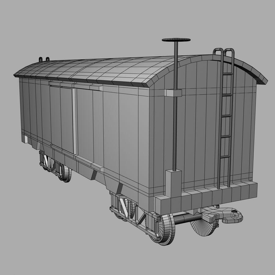 Güterwagen royalty-free 3d model - Preview no. 8